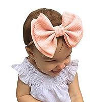 MILL.GD88 ❥Baby Unisex Hair Ball Multicolor Printing Headband Elastic Double-Layer Bow Design Hair Band Soft Headband for Newborns Baby Toddler Girls