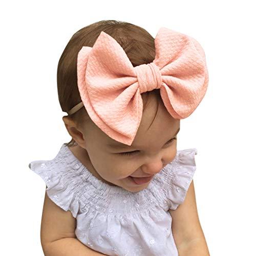 Pink Flapper Kostüm Baby - Stirnband Baby Liusdh Baby Unisex Haarball Multicolor Printing Stirnband Elastic Bow Design Haarband(Pink,freie Größe)