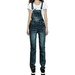 Salopettes Femmes Pantalons Pantalons Avec Salopettes Combinaisons Chic Des Rétro Pantalon En Denim Taille Haute Stretch Trou Déchiré Crayon Moderne Pantalon Décontracté ( Color : Colour , Size : M )
