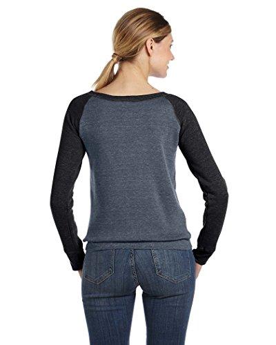 Bella+Canvas: Sponge Fleece Wideneck Sweatshirt 7501 DP HEATHER/BLACK