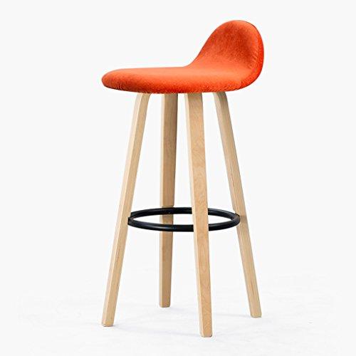 Vintage EinfacheHolzGeometrische Hochstuhl Stuhl Aluk Kissen Europäischen Form High Stoolsfolding Continental Bar Kreative Barhocker Chairs vNn0wO8m