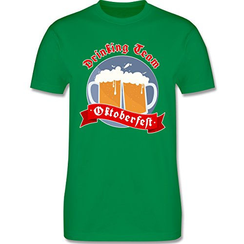 Oktoberfest Herren - Drinking Team - Oktoberfest - Herren Premium T-Shirt Grün