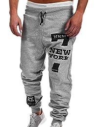 Chándal de hombres Amlaiworld Moda Pantalones de chándal de hombre  Pantalones casuales para hombres Running Yoga b99ee9dc2c4ae