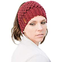 Tacobear Mujer Sombreros de Invierno Mujer Cola de Caballo Gorro Gorros con Coleta  Knit Ponytail Beanie cd2efbc4e8c