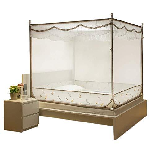 Sunny Übergroße Tragbare Bettvorhänge - Home Schlafzimmer Outdoor Camping Moskitonetz - Pflegeleicht Maschinenwäsche Und Reißen Viele Größen (Farbe : A, größe : 1.5m (5 feet) Bed)