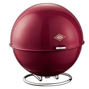 Wesco 223101-58 Superball Bac boule pour le pain ou les fruits Rouge rubis 26x26x26 cm