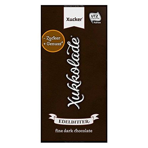 Xucker 5er Pack zuckerfreie Schokolade mit Xylit, Edelbitter, 5 x 100g Tafel, 75% Kakaogehalt, Xukkolade, 9912