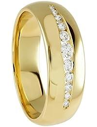 Diamond Line Damen - Ring 585er Gold 11 Diamanten ca. 0,25 ct., gelbgold