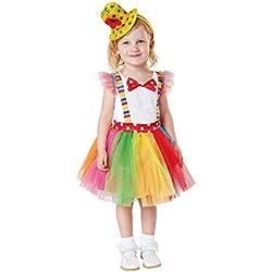 My Other Me Déguisement clown avec tutu pour fille, référence : Viving Costumes 3-4 años