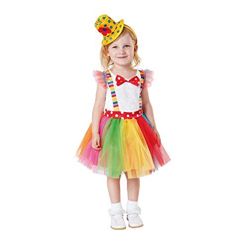 My Other Me payasita Tutu-Kostüm für Mädchen (viving Costumes) 3-4 años (Kostüm Tutu, Clown)