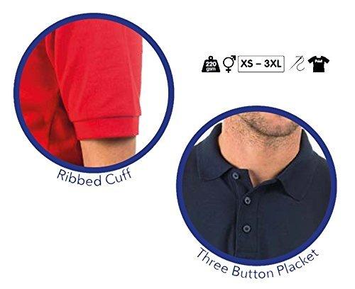 Bruntwood Aufgeld Polo Hemd - Premium Polo Shirt - Herren & Damen - 220GSM - Polyester/Baumwolle Grau Meliertes