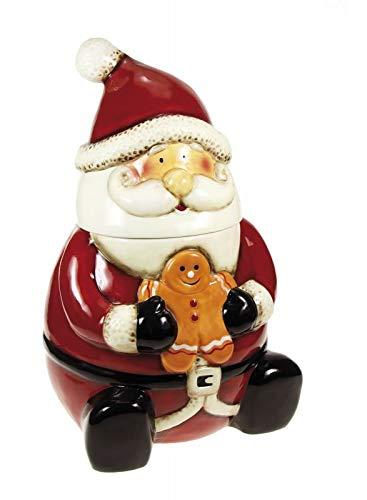 Alice's decorations biscottiera in ceramica babbo natale altezza 32 cm 1 pz