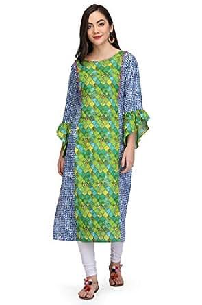 VICVIM Stylish Cotton Printed Kurti For Women/Girls