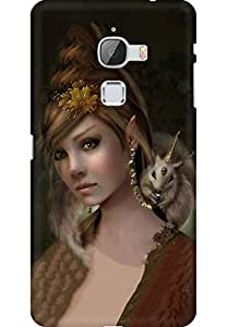 AMEZ designer printed 3d premium high quality back case cover for Letv Le Max (Art Girl)