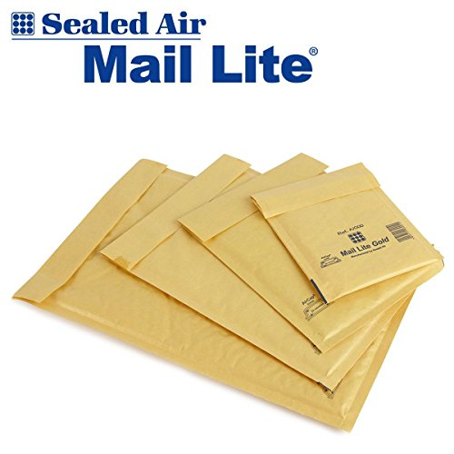 "100 Mail Lite - D/1 - JL/1 - Jiffy Padded Envelopes 180 x 260mm - 7"" x 10.5"" (Box of 100) - Gold"