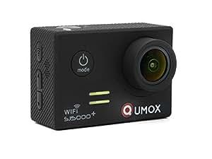 QUMOX Origine SJ5000+ WIFI SJ-5000, plus de sport Casque Action Camera Ambarella A7LS75 DSP+ Panasonic 16 mégapixels avec capteur CMOS 30fps 1080P 720P 60fps Full-HD 1.5 pouces 1.5 '' 170 ° Objectif plongée étanche caméscope HD DVR voiture noire