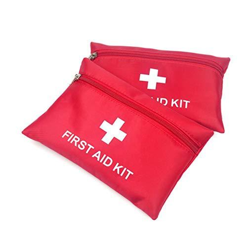 Iswell Erste Hilfe Mini, Auto wasserdichte Mini Outdoor Sport Camping Reise Rescue Car Home Kleine Medizinische Box Notüberlebens Erste-Hilfe-Kit