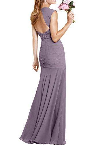 Sunvary Elegant Damen Chiffon Meerjungfrau Traeger Falte Abendmode Lang Abendkleider Festkleider Dunkelgruen