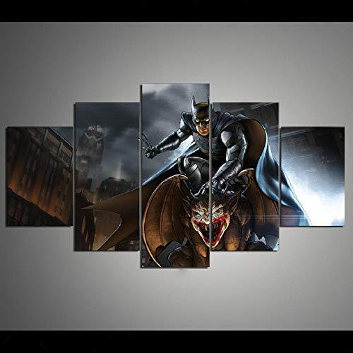 TJJQT 5 Cuadro Lienzo HD Canvas Art DC Batman Zombie