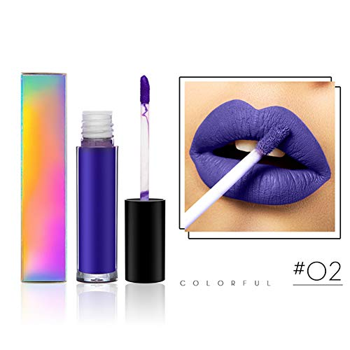 Allbestaye Bunt Matte Lipgloss Purple Green Orange Dark Red Velvet Flüssigkeit Lippenstift...