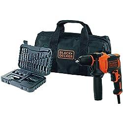 BLACK+DECKER BEH710SA32-QS Perceuse à percussion filaire - 32 accessoires - Livrée en sac de rangement 710W