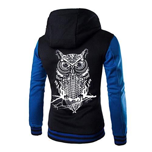 M-2XL ODRDღ Hoodie Männer Sweatshirt Sweater Mantel Windbreaker Herren Outwear Sweatjacke Cardigan Strickjacke Kapuzenpulli Pullover Langarmshirts Jacke Parka Hooded (Blau, L) - Asiatischen Outdoor-beleuchtung