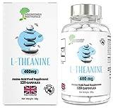 L-Theanin | 120 feinste L-Theanin-Kapseln | NUR L-Theanin, frei von Füll- und Bindemitteln sowie Magnesiumstearat | 4-Monatsvorrat | Vegan & glutenfrei | Hergestellt in GB, GMP-Standards (400mg)