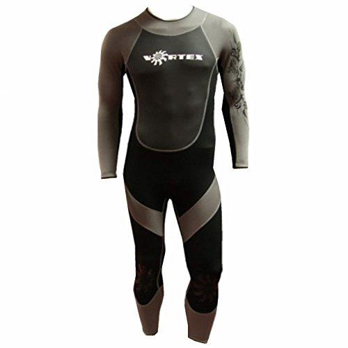 n Neoprenanzug, 3mm, volle Länge für Erwachsene, in einer Vielzahl von Größen erhältlich, ideal für Surfen, Schwimmen, Kanu oder Kajak XL schwarz / grau ()