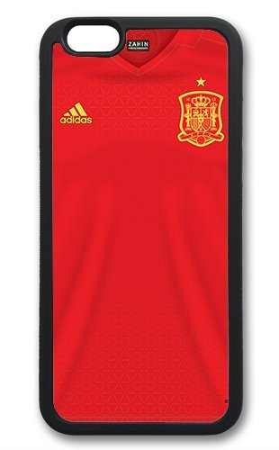 Coque silicone BUMPER souple IPHONE 4/4s - EURO 2016 football maillot drapeaux espagne CASE tpu DESIGN + Film de protection INCLUS 1