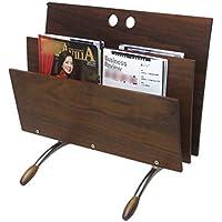 Estante para revistas, estante para periódicos, estante para periódicos de piso simple de madera estante para almacenamiento de revistas ambientales estante dormitorio estudio estudio estante de almac