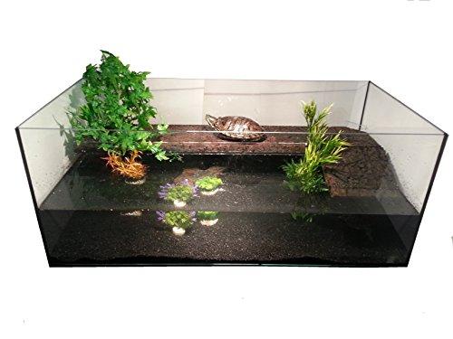 Deluxe Wasserschildkrötenbecken + Landteil mit Kork (120x60x50) (Schildkröten-aquarium Groß)