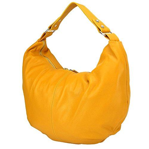 Umhängetasche aus Leder und Umhängetasche 3017 Gelb