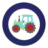 Türknauf'Traktor' dunkelblau Holz Buche Kinder Kinderzimmer 1 Stück Fahrzeuge Transportfahrzeuge Traum Kind