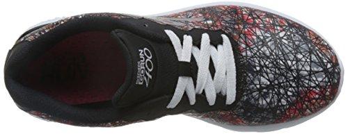 Skechers Go Run 400-Velocity, Chaussures Multisport Outdoor Femme Noir (Bkw)