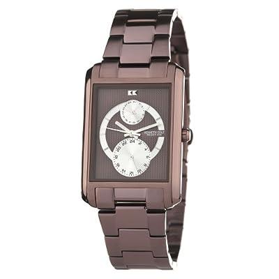 Kenneth Cole BRUIN DAG KC3787 - Reloj de caballero de cuarzo, correa de acero inoxidable color marrón de Kenneth Cole
