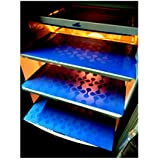 Deerosita Plastic Fridge Mat Refrigerator Drawer Mat/Fridge Mat/Place Mat Set Of 3 Pcs (12 * 17 Inches) Multi Purpose Use { Random Color Will Be Sent As Per Availability}