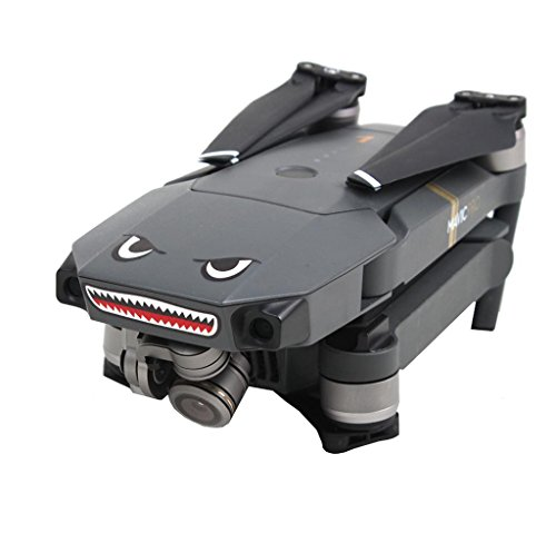 Price comparison product image Malloom For DJI Mavic Pro RC Drone 2 pcs Shark decoration Waterproof Decal Skin Sticker
