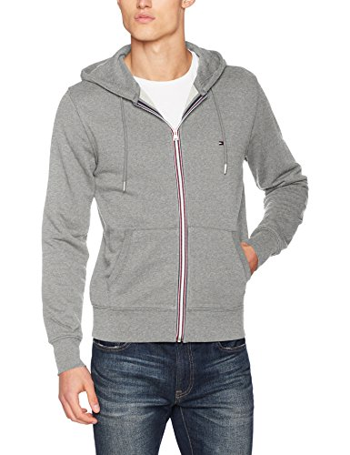 Tommy Hilfiger Herren Sweatshirt Core Cotton Zip Hoodie, Grau (Cloud Htr 501), XX-Large