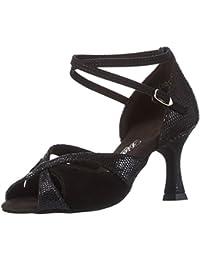 misu - Zapatillas de danza para mujer Multicolor negro/rojo, color multicolor, talla 43