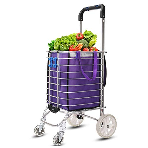 358627362b9a ZSLLO Shopping Cart Compact Shopping Cart Trolley Pack Foldable Reusable  Grocery Shopping Bag Eco-Supermarket Bag Easy To Use And Heavy Bolsas  (Color ...