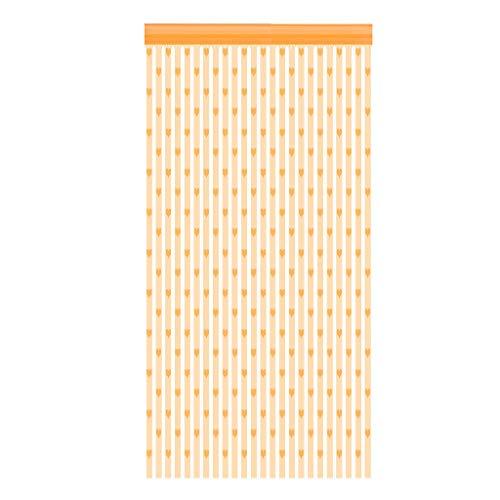 FNKDOR Gardinen 1PC Herzform Linienvorhang Fadenvorhang 100cmx200cm Tüll Vorhang Indoor Dekoration Türvorhang I 100 x 200 cm