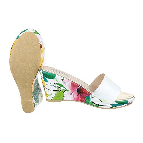 Ital-Design Sandales Pour Femme Weiß