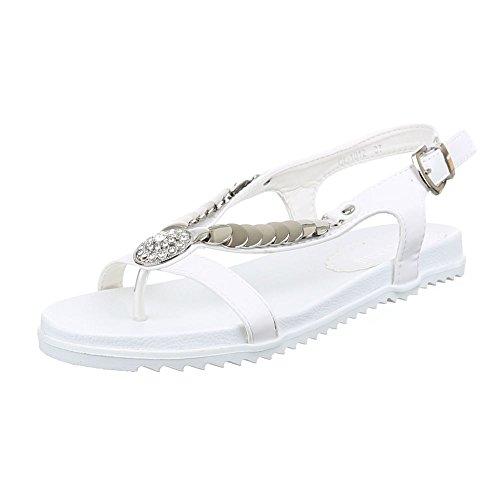 Ital-design - Zapatos De Punta Blanca Para Mujer Blanca