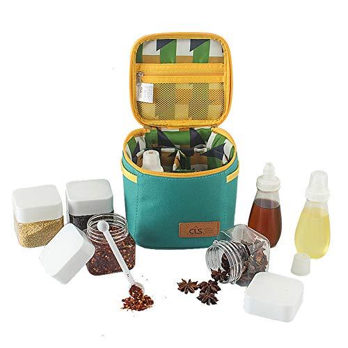 Au?en Würzen Flasche Set Tragbarer Würzen Jar Grillgewürz Halterkampierender Menage Kitchen Spice Box-Sport Und Freizeit