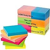 Zczn 6Notes Sticky Notes de couleur vive, 3en X 3en Lot de 12blocs/100feuilles/Pad Sticky problème est plus 24 Pack