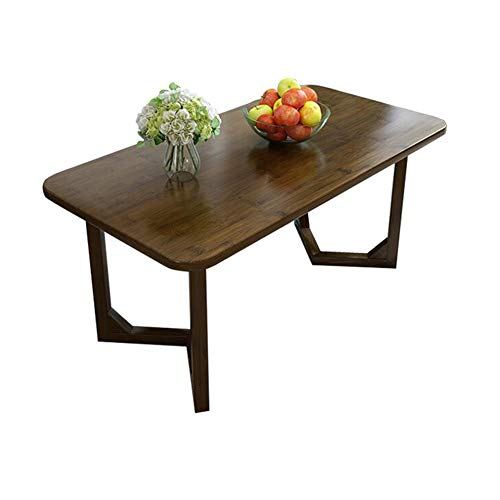 Tables CJC Consoles Basse, Les Moderne Bambou Naturel Terminer Rectangulaire TV Stand Salon Stockage Multifonction (Couleur : Dark Bamboo, Taille : 100x50x48cm)