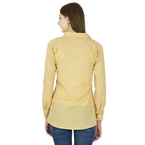 Tunique Femmes Top Shirt Vêtements En Coton Summer Sundress Beige
