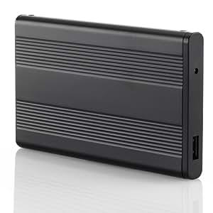 deleyCON USB 3.0Gehäuse extern Schwarz 2,5 zoll USB 3.0