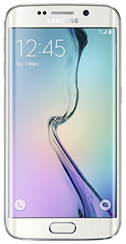 Samsung Galaxy S6 Edge Smartphone (5,1 Zoll (12,9 cm) Touch-Display, 64 GB Speicher, Android 5.0) weiß (Unlocked Android-handy)
