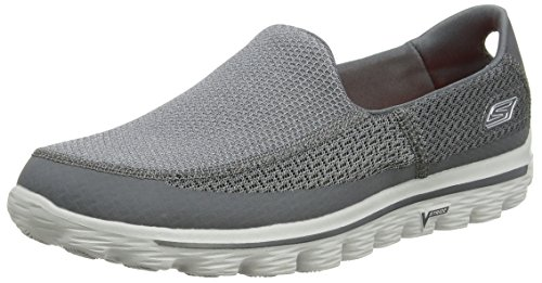 Skechers Go Walk 2, Baskets mode homme Gris (Char)